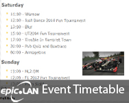 event timetable